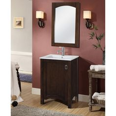 Shop InFurniture  IN3424-BR IN 34 Series 24-in Sink Vanity with Ceramic Sink Top at ATG Stores. Browse our bathroom vanities, all with free shipping and best price guaranteed.