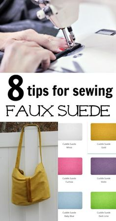 8 Tips For Sewing Faux Suede with free project links | DIY Crush