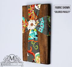 Fabric Wall Cross  I think we could make this in Sunday School