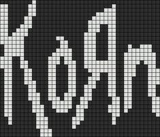 Alpha friendship bracelet pattern added by TrueFalse. Cross Stitching, Cross Stitch Embroidery, Cross Stitch Patterns, Cross Stitch Bookmarks, Mini Cross Stitch, Pearler Bead Patterns, Perler Patterns, Minecraft Pattern, Pixel Drawing