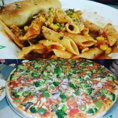 My love for food is never gonna end!! #pizza #pasta #Arabiata #veggiesupreme #sbarro #italian #lovelytime #friendsfeast #foodgasm #foodporn #foodie by thekritikasharma #Connaught_place #Delhi #IncredibleIndia