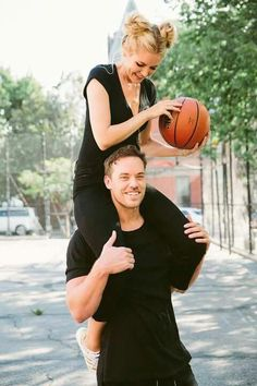 Twins in Black - Barefoot Blonde by Amber Fillerup Clark Basketball Couple Pictures, Basketball Engagement Photos, Basketball Couples, Basketball Boyfriend, Cute Couple Pictures, Basketball Court, Couple Pics, Basketball Shoes, Basketball Tattoos