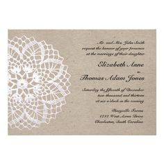 Discount DealsVintage Rustic Doily Wedding Invitationwe are given they also recommend where is the best to buy