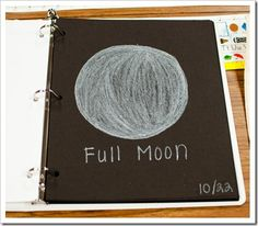 Moon journal  |  Activity is from the blog of a teacher who has wonderful early elementary activities.
