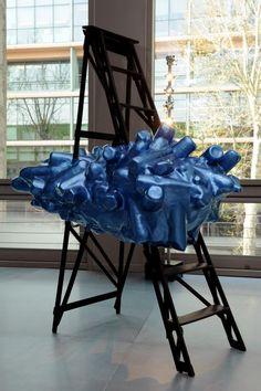 """3rd Edition - March 29th to April 1st, 2012, Cité de la Mode et du Design - Paris / Credits : Didier Plowi / Art   Exhibition / Artist : Lucy & Jorge Orta """"Clouds Raft"""" 2011"""