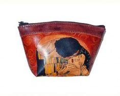 Umelecké ručne maľovanépúzdro – kozmetická taštička Gustav Klimt, Coin Purse, Purses, Wallet, Handbags, Purse, Bags, Diy Wallet, Coin Purses