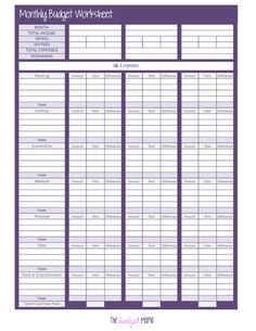 Printables Salon Budget Worksheet monthly budget template and households on pinterest 103374547 the worksheet pdf google drive