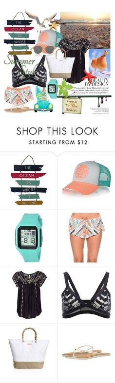 """""""Summer Beach Outfit"""" by designed-by-me ❤ liked on Polyvore featuring WALL, Rip Curl, Heidi Klein, Christian Dior, Summer, beach, vacation and RipCurl"""