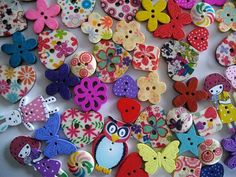 Check out this item in my Etsy shop https://www.etsy.com/uk/listing/196378428/pack-of-50-assorted-wooden-buttons-for
