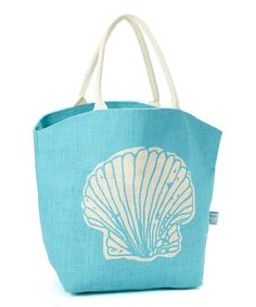 Take a look at this Blue Seashell Tote on zulily today!