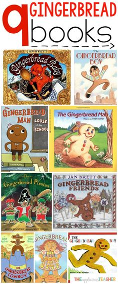 9 of the best books for a gingerbread unit! Love all the different variations of the story in these suggestions! Perfect to go with all our gingerbread man activities. The kids will love it! Gingerbread Man Book, Gingerbread Man Activities, Christmas Gingerbread, Christmas Activities, Book Activities, Gingerbread Crafts, Gingerbread Houses, Gingerbread Stories, Preschool Christmas