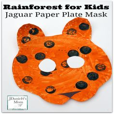 Rainforest for Kids:Jaguar Paper Plate Craft- This part part of a series of crafts that would be great to make as part of a unit on the rainforest or during the Olympics in Brazil as part of study of that country. Rainforest Preschool, Rainforest Crafts, Rainforest Theme, Rainforest Animals, Brazil Rainforest, Rainforest Classroom, African Rainforest, Preschool Jungle, Rainforest Habitat