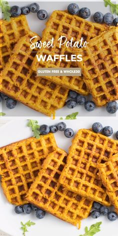 Recipes Snacks Videos A healthy sweet potato waffles recipe, using coconut flour and egg as a light batter. Learn how to make sweet potato waffles for a savory or sweet breakfast. A great gluten free and recipe! Sweet Potato Flour, Sweet Potato Pancakes, Paleo Sweet Potato, Sweet Potato Breakfast, Eggs And Sweet Potato, Healthy Waffles, Savory Waffles, Gluten Free Waffles, Gluten Free Recipes Videos
