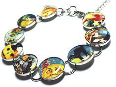 $37 Halloween Bracelet Handmade Jewelry Resin by OOAKResinDesigns