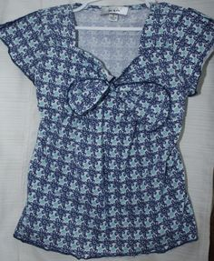 BCX girl Floral Top size 6 Multi-Color Short Sleeve Spring Summer everyday- #BCX #Everyday