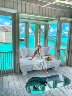 Amazing from inside (Soneva Jani, Medhufaru, Maldives) Vacation Places, Vacation Destinations, Dream Vacations, Vacation Spots, Maldives Travel, Maldives Resort, Maldives Luxury Resorts, Maldives Honeymoon, Beach Resorts