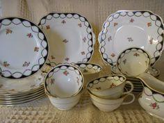 Vintage Aynsley Tea Set 5 Trios 2 Cake Plates Reg No. 628720 Tea Rooms 22Pieces | eBay