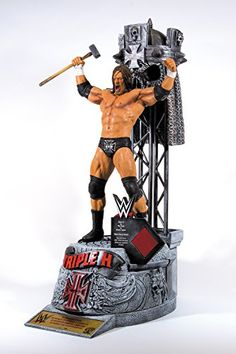 """McFarlane Toys WWE Triple H Resin Statue Few WWE Superstars in history have created the impact of """"The Game."""" He stands as a 13-time World Champion and helped found perhaps the two most dominant factions in WWE history in D-Generation X and Evolution. Triple H's legendary intensity and his insatiable will to win were trademarks of WWE's celebrated """"Attitude Era,"""" which propelled WWE to new heights. Triple H is considered an all-time great not only for his physical prowess, but his c.."""