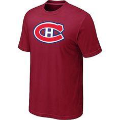 NHL Montreal Canadiens Big & Tall Logo T-Shirt - Red [Montreal Canadiens T Shirts 019] - $12.95 : Cheap Hockey Jerseys