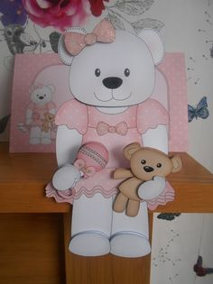3D on the Shelf Card Kit - Belle Baby Bear - Photo by BECCY WILTON