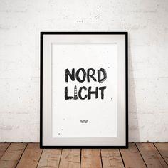 Nordlicht Print/Poster Din A2 & A4 zur maritimen Deko >>