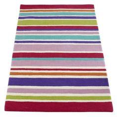 Multicoloured Stripe Rug | Children's Bedroom Rugs | ASPACE