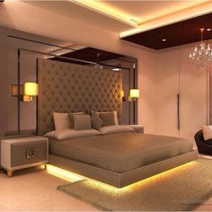 Master Bedroom Design, Luxury Bedroom Design, Modern Bedroom, Bed Back,  Bedroom Lighting