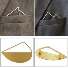 Luxury Designer Lapel Pin Brooch for Men & Women Ideal for Suit Blazers Shirts #Fadkart