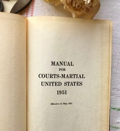 25 00 Where Can You A Manual For Courts Martial United States 1951 Book