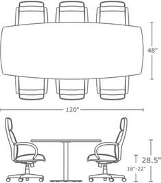 1000 images about meeting tables on pinterest meeting room tables confere - Dimension table 6 personnes ...