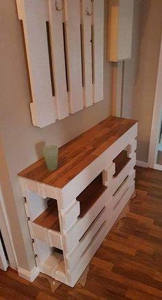 Wooden Pallet Projects, Wooden Pallet Furniture, Diy Furniture Couch, Pallet Crafts, Woodworking Projects Diy, Diy Home Crafts, Furniture Projects, Palette Furniture, Dresser Furniture
