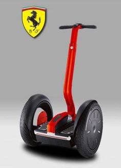 The Segway PT i2 Ferrari Limited Edition people mover.