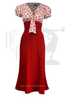 1930s Sweet Thing Dress - poppy