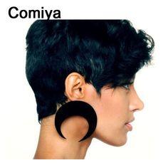 Comiya Punk Exaggerated big black moon drop Earring Fashion Women's Pendientes charm Dangle Earrings for women jewelry bijoux