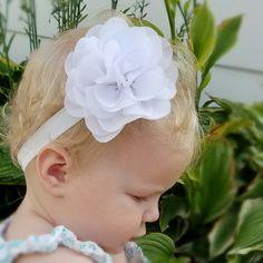 Be still my heart... A sweet rose headband for a sweet little baby!