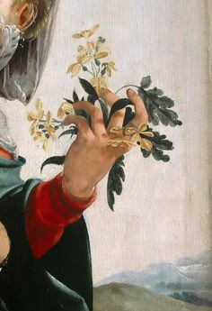 "rubenista: ""Jan van Scorel, Madonna with Field Flowers (detail), 1528 "" Renaissance Kunst, Renaissance Paintings, Classic Paintings, Old Paintings, Aesthetic Painting, Aesthetic Art, Art And Illustration, Classical Art, Detail Art"