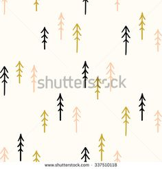 Seamless hand-drawn triangles pattern.Vector abstract Hand drawn background for design and decoration textile, covers, package, wrapping paper. Scandinavian style background pattern in vector - stock vector