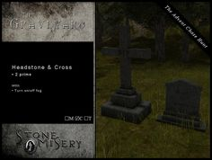 .:S.M:. The Graveyard - Headstone & Cross | by Syrdin Morrisey