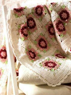 Crochet Blanket granny squares handmade hekledilla ganchillo craft  Home decor