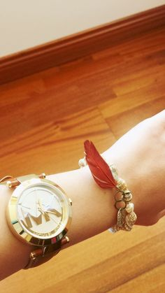 #clock#bracelet#feather