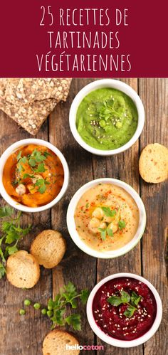 25 recipes of vegetarian spreads for the aperitif! Raw Food Recipes, Veggie Recipes, Wine Recipes, Vegetarian Recipes, Cooking Recipes, Healthy Recipes, Dips, Vegan Sauces, Vegan Appetizers