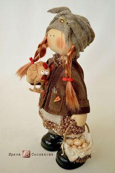 Купить ФРОСЯ - рыжий, текстильная кукла, кукла, кукла ручной работы, кукла текстильная