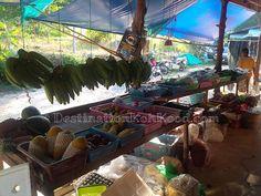 Lots of fruits and vegetables @ Captain Shop (Koh Kood, Thailand)