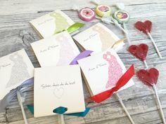 Gastgeschenke - Gastgeschenke zur Hochzeit mit Lollies Brautpaar - ein Designerstück von Kunstundtext bei DaWanda