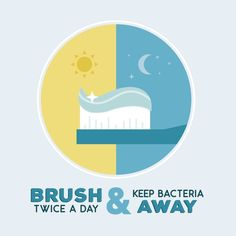 Brush twice a day and keep bacteria away.
