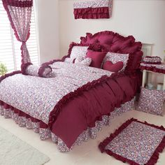 Red Bean Pie Grayish Red Princess Bedding Girls Bedding Women Bedding