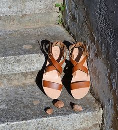 Brown Sandals, Leather Sandals, Womens Summer Shoes, Ancient Greek Sandals, Birkenstock Mayari, Fashion Sandals, Beautiful Shoes, Real Leather, Handmade Leather