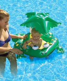 Frog Covered Pool Baby Seat by Poolmaster #zulilyfinds