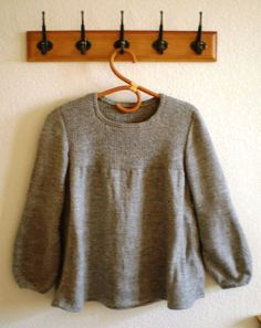 Ravelry: My grey pullover pattern by Marie Guiheneuf