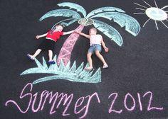 Resultado de imagen para pictures of kids and chalk drawings
